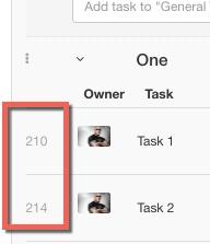 tasknumber